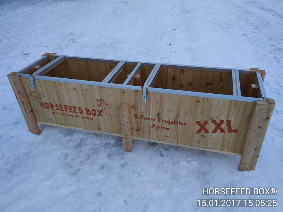 HORSEFEED BOX® - SIBERIAN GOLD LARCH XL HIGH - Modell 2017