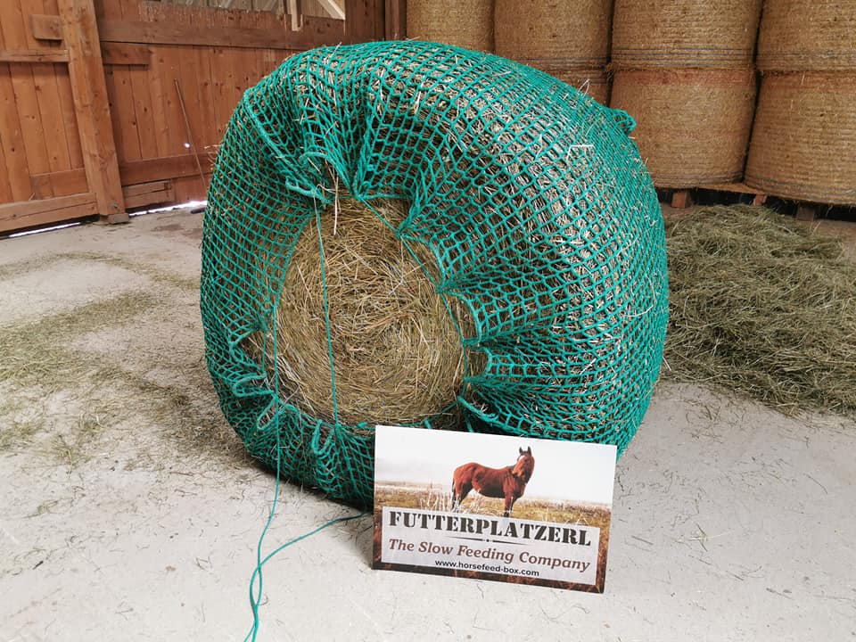 HORSEFEED BOX HAY-NET - Rundballenheunetz BIG BALE 3cm Power Mas