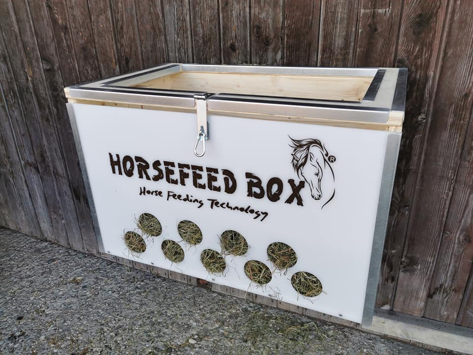 HORSEFEED BOX CLASSIC DeLuxe Hay Trough LONG