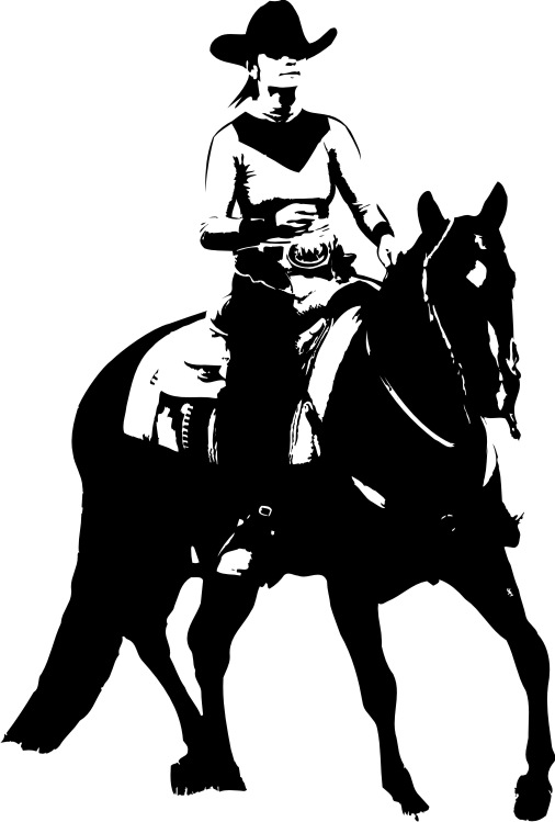 CT Cowgirl Ride - Aufkleber od. Shirt