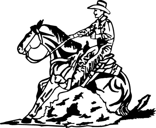 Cowboy Boots Clipart Black and White