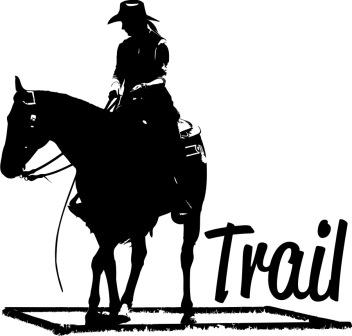 CT Trail Cowgirl - Aufkleber